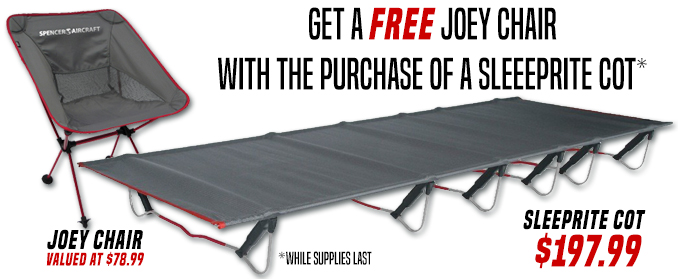 Buy a sleeprite cot and get a free Joey Chair