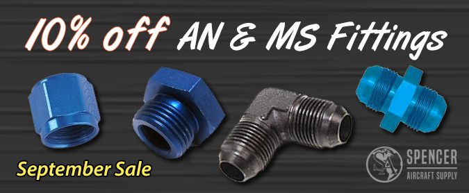 10% off AN and MS fittings