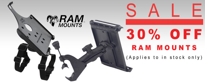 All In-Stock RAM Mount Products 30 percent off