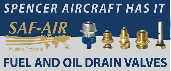 SAF-Air Fuel and Oil Drain Valves
