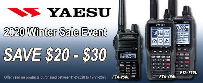 Save up to $30 on Select Yaesu Handhelds purchased 04/01/17 - 07/31/17