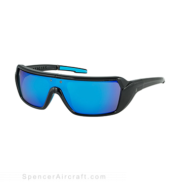 Poptical Sunglasses - PopStorm Black/Blue Mirror