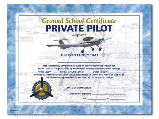 pilot private certificate ground individual 10pack above aids double