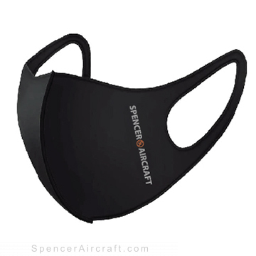 Spencer Aircraft Waterproof Face Mask, Black, One Size