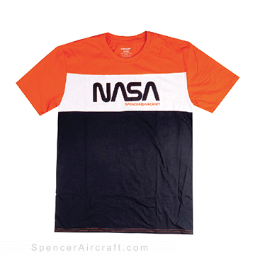 Spencer Aircraft Nasa T-Shirt, Orange, M