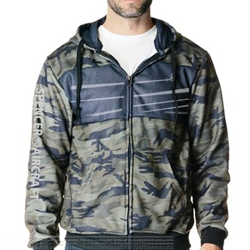 Spencer Aircraft Camo Jacket with Charcoal Chest - Large