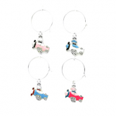 Airplane Wine Charms - 4 pack