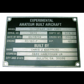 Experimental A/C Metal Plate