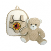 Spencer Aircraft Kids Plush Tan Bear Backpack