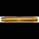 MS21251B6L - Turnbuckle Barrel, Clip Locking, 3/16-24 x 4 Long - Wire Dia: 3/16 - Brass (alt part # AN155B46L, AN155-46L)