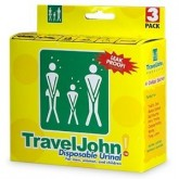 Travel John portable toilet 3 pk