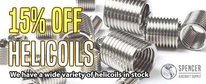 15% OFF Helicoils