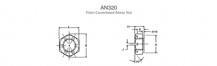 Shear Caslellated Nuts