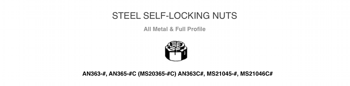 Steel Locking Nuts