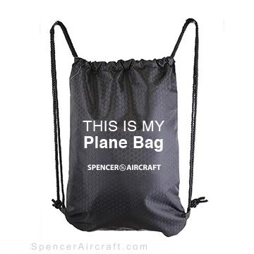 This is my Plane Bag - Black Drawstring