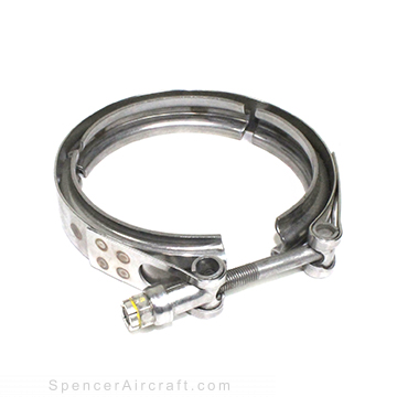 4563-450 - Clamp - Quick Coupler Latch Couplings- 1 Latch, 3 Segments - 1/4-28 - Tube OD: 4-1/2 - Stainless Steel