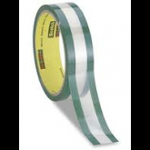 3M™ 685 - Riveters Tape, 1 X 36 Yards - Transparent Film with Green Adhesive, 1.7 mils (.043 mm) Polyester film with a rubber-strip coated along edges of tape only and tack-free center Window
