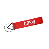 Luggage Tag - Crew Red/white