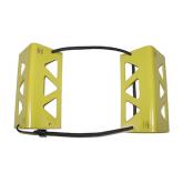 "Large Yellow Travel Chock - 3 1/2 X 3 1/2 X 8 - Heat Treated - 3/16"" thick Aluminum"