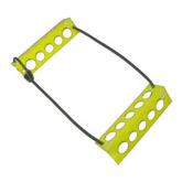 """Medium Yellow Travel Chock - 2 X 2 X 8 - Heat Treated - 1/8"""" thick Aluminum"""