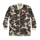 Spencer Aircraft Extended Bomber Jacket, Camo, L